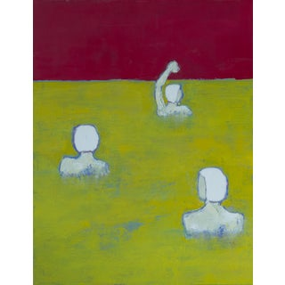 """Bill Tansey """" Adult Swim"""" Abstract Oil Painting on Canvas For Sale"""