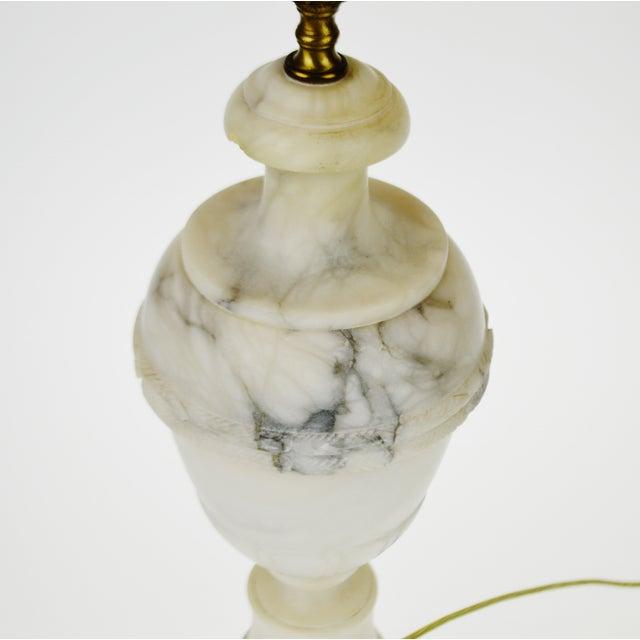 Vintage Carved Alabaster Table Lamp - Image 2 of 10