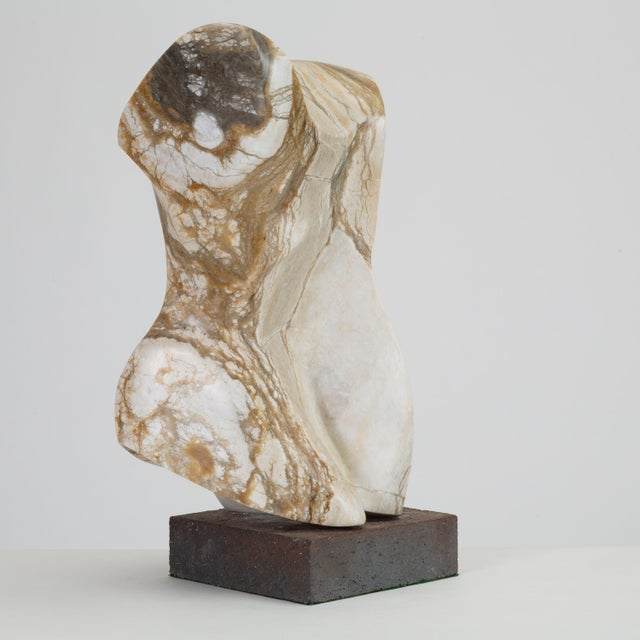 Abstract Torso Sculpture on Stone Mount For Sale - Image 9 of 12