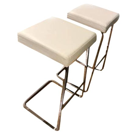Mies Van Der Rohe: Four Seasons Stool - A Pair - Image 1 of 7