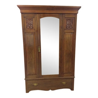 Wardrobe With Beveled Mirror For Sale