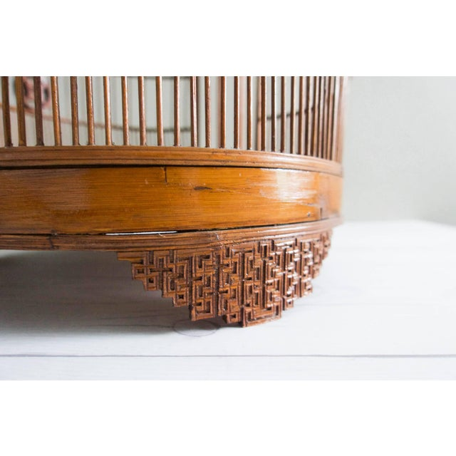 Vintage Chinese Bamboo Bird Cage - Image 6 of 6
