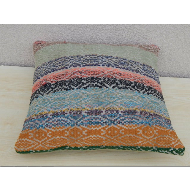 Contemporary Handmade Turkish Kilim Pillow For Sale - Image 3 of 5