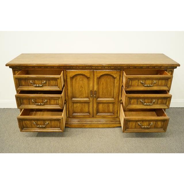 Wood 20th Century Italian Dixie Furniture Triple Door Dresser For Sale - Image 7 of 13