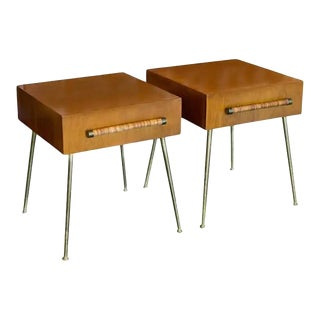 1950s Nightstands or Side Tables by T. H. Robsjohn-Gibbings - a Pair For Sale