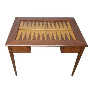 Mid-Century Modern Custom Backgammon Table For Sale
