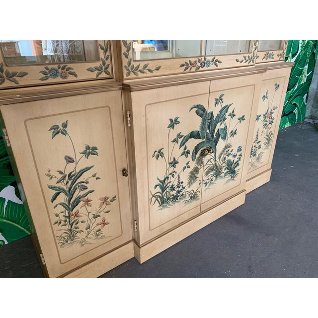 Drexel Hand Painted China Cabinet by Drexel For Sale - Image 4 of 7