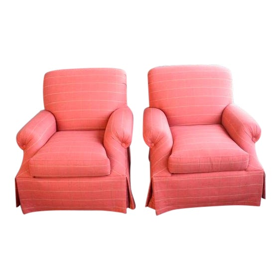 Modern Transitional Sherrill Custom Made Chairs - A Pair For Sale