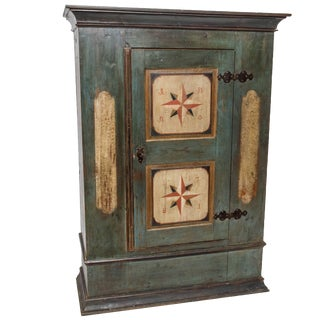 Hand-Painted Armoire For Sale