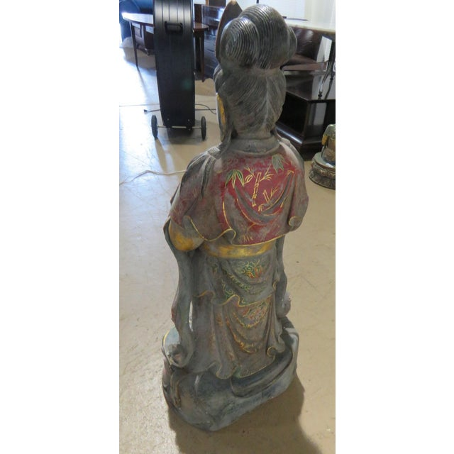 Early 20th Century Early 20th Century Figural Oriental Marble Statue For Sale - Image 5 of 7