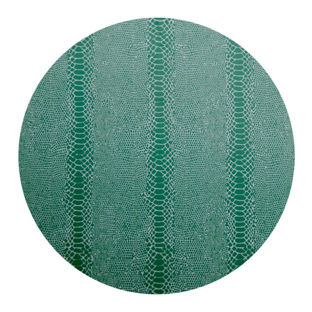 Contemporary Snakeskin Placemat in Green For Sale - Image 3 of 3