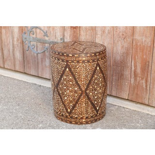 Striking Star Bone Inlay Drum Table Preview