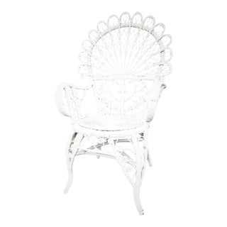 Bohemian Wicker Peacock Chair For Sale