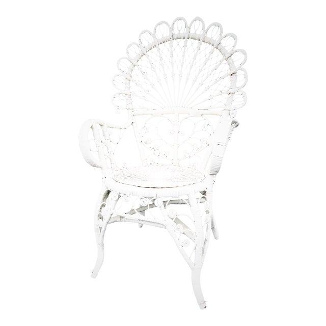 Bohemian Wicker Peacock Chair Chairish