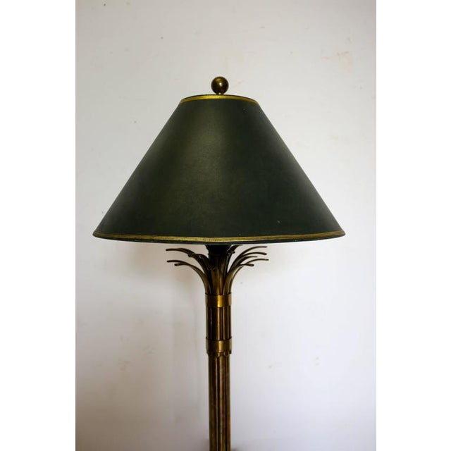 Mid-Century Brass Palm Tree Lamp For Sale - Image 5 of 10