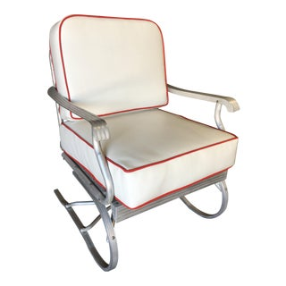 Mid Century Aluminum Springer Rocking Chair For Sale