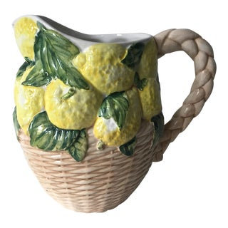 Italian Faience Lemon Pitcher