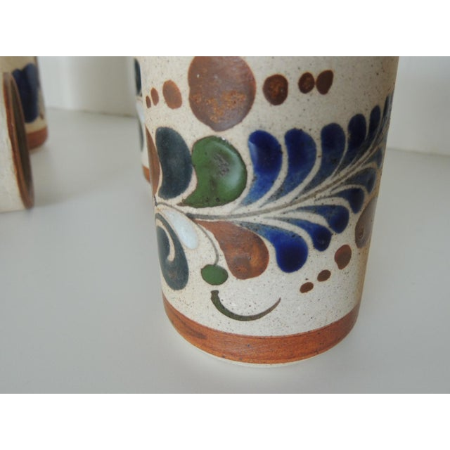 Set of Six Mexican Tonala Drinking Glasses. For Sale In Miami - Image 6 of 7
