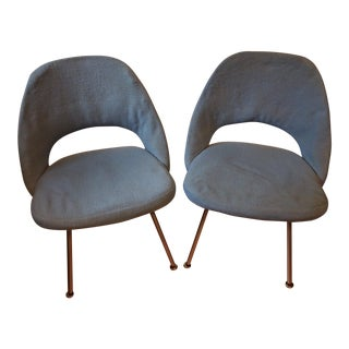 Knoll Saarinen Executive Armless Chairs - A Pair