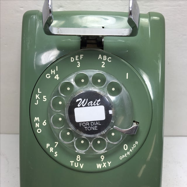 Moss Green Western Electric Rotary Dial Wall Phone - Image 8 of 11