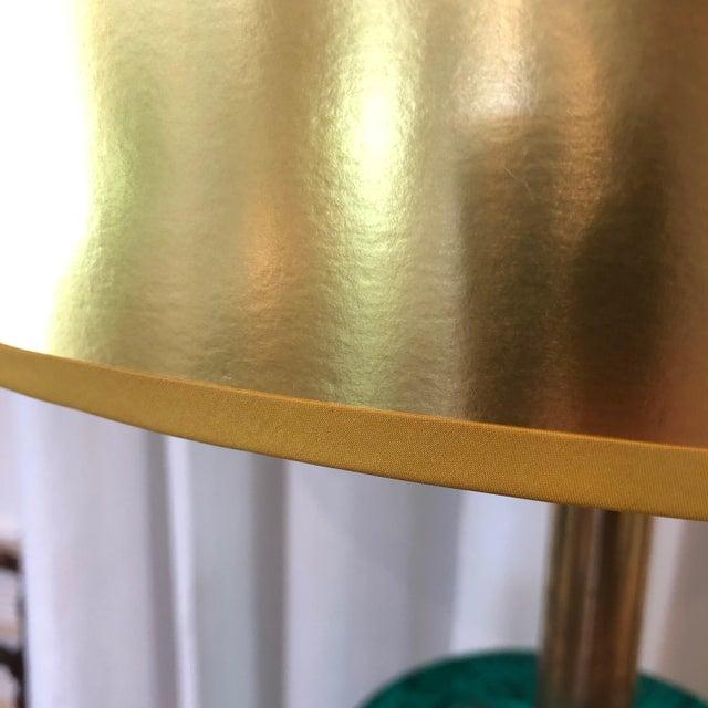 Italian Piero Fornasetti Italian Faux Malachite Floor Lamp For Sale - Image 3 of 9