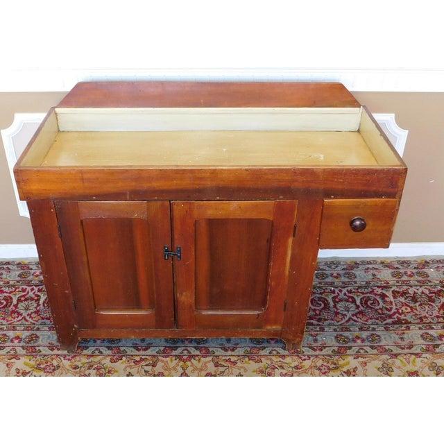 Late 19th Century Antique 19th Century Primitive Rustic Pine Dry Sink  Cabinet C1880 For Sale - - Antique 19th Century Primitive Rustic Pine Dry Sink Cabinet C1880