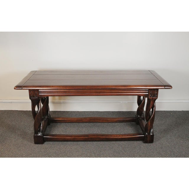 Oak gothic table. Made in the 1900s.