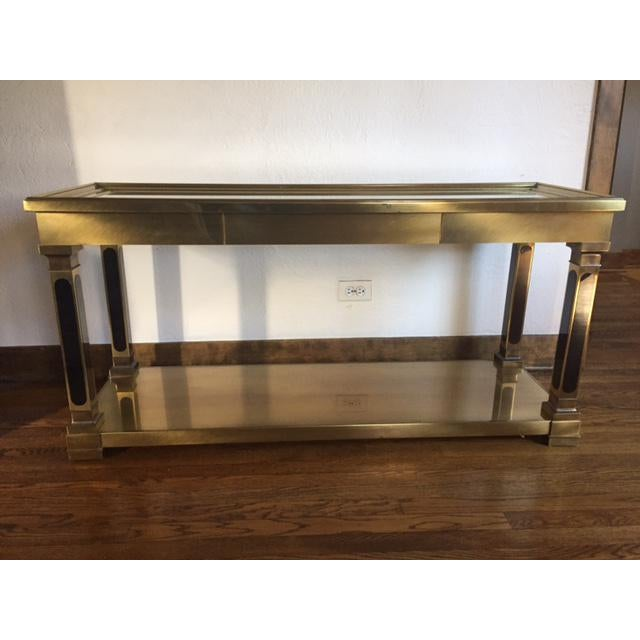 Mastercraft Brass Console Table - Image 4 of 8