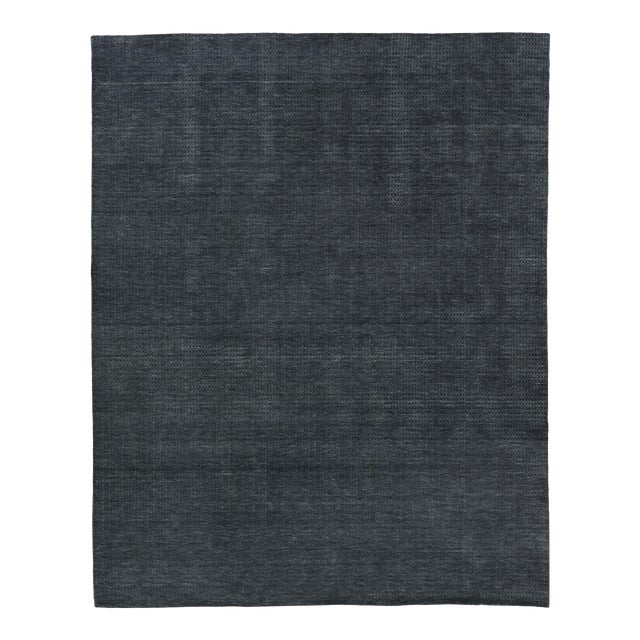 Exquisite Rugs Worcester Handwoven Wool Charcoal - 10'x14' For Sale