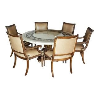 Kreiss Collection Marble Top Dining Room Suite For Sale
