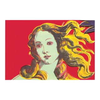 2000 Andy Warhol Birth of Venus Red Poster For Sale