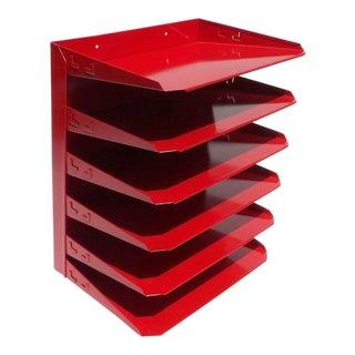 Red Desk Organizer / Mail Sorter For Sale