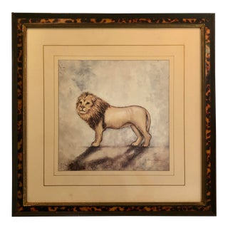 "Vintage ""Mr. Lion"" Framed Print by Alexandra Churchill For Sale"