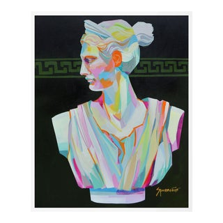 Greek Bust II by Jennifer Sparacino in White Framed Paper, Medium Art Print For Sale
