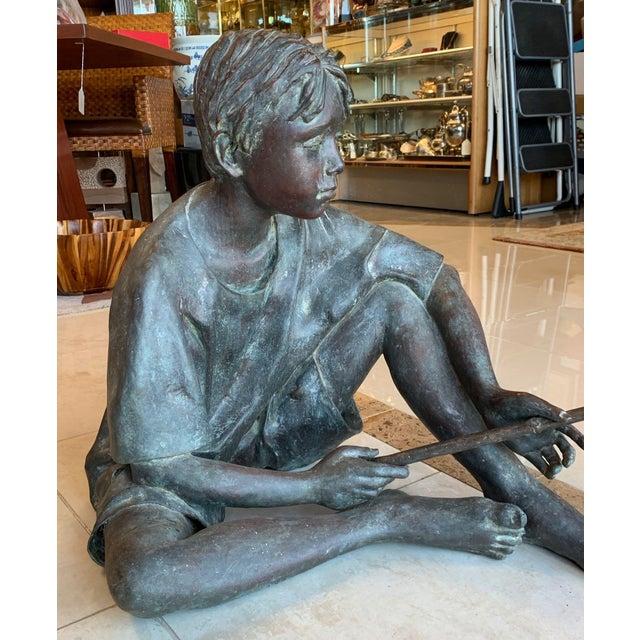 "Susanne Vertel ""Dream Catcher"" Bronze Statue For Sale - Image 10 of 11"