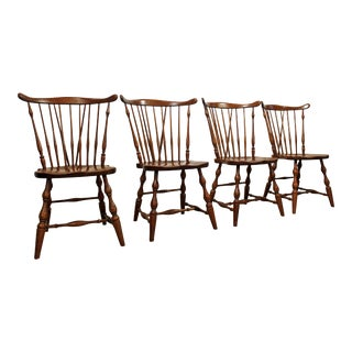 Set of 4 Pennsylvania House Windsor Brace-Back Dining Chairs