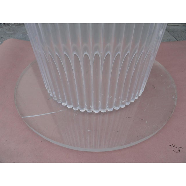 Transparent Column Style Lucite Center Table by Ritts Furniture Company For Sale - Image 8 of 11