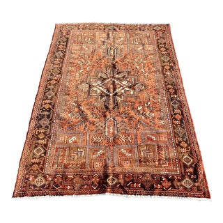 1950's Vintage Persian Heriz Large Area Rug 8'12' For Sale