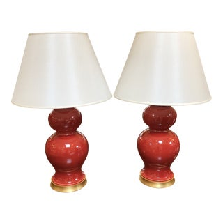 New Hwang Bishop Leila Table Lamps, a Pair For Sale