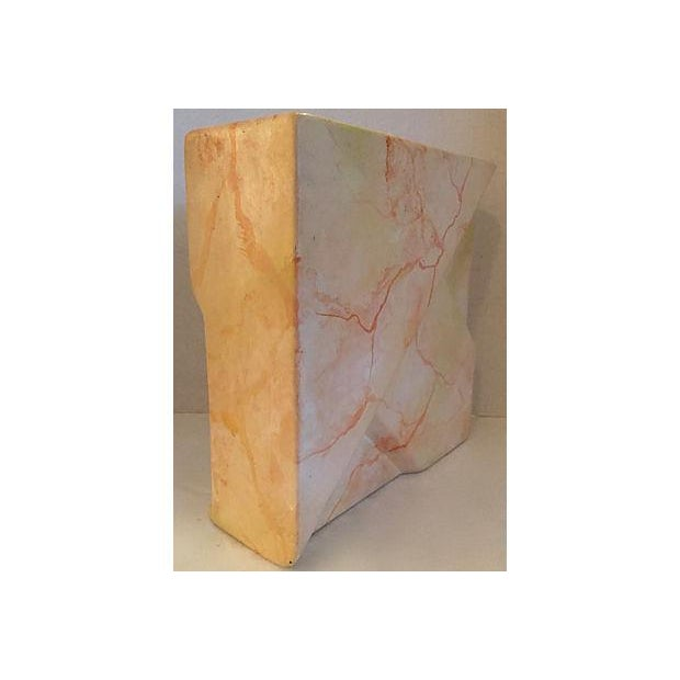 Signed Geometric Relief Vase For Sale - Image 4 of 7