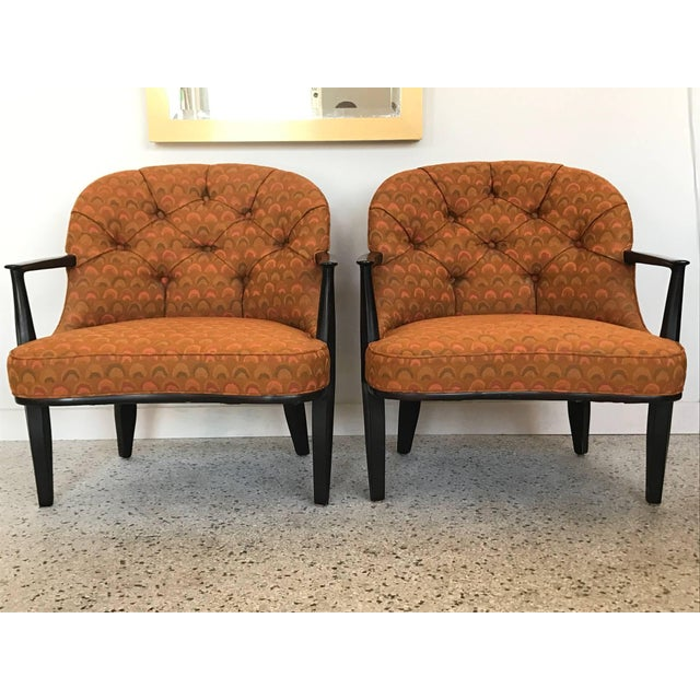 """A pair of excellent Edward Wormley for Dunbar """"Janus Collection"""" armchairs. Hard to find in very good original condition-..."""