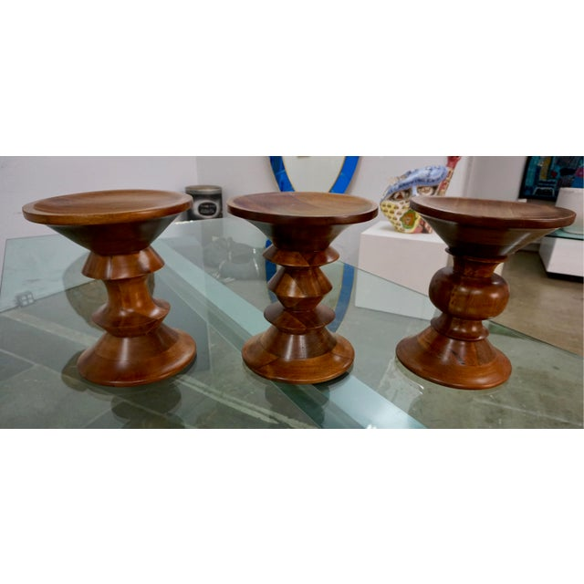Wood 1950s Time-Life Stools by Charles Eames - Set of 3 For Sale - Image 7 of 7