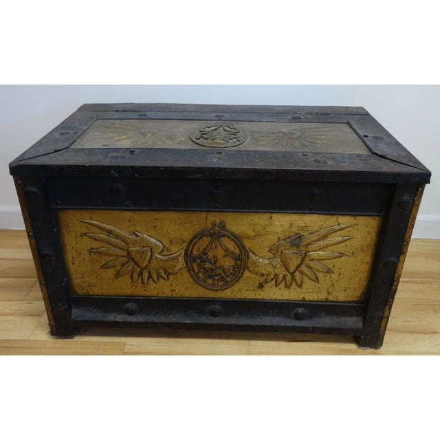 Russian Iron & Brass Trunk - Image 2 of 5