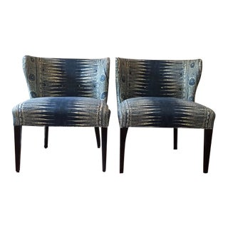 1970s Vintage Curved Back Chairs- A Pair For Sale