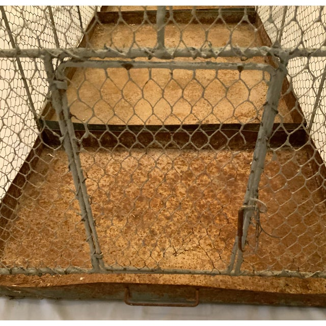 Vintage 1950s French Style Metal Birdcage For Sale - Image 11 of 13