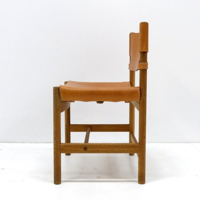 "Wood 1960s Vintage Børge Mogensen ""Hunting"" Chairs- Set of 6 For Sale - Image 7 of 11"