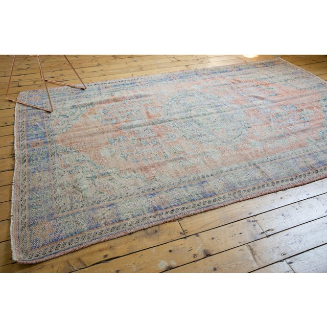 "Boho Chic Vintage Distressed Oushak Carpet - 6'2"" X 9'8"" For Sale - Image 3 of 13"