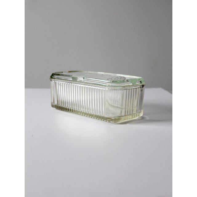 Depression Glass Refrigerator Dish For Sale - Image 6 of 9