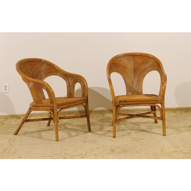 Sculptural Set of Six Vintage Bamboo Dining Chairs For Sale In Atlanta - Image 6 of 11