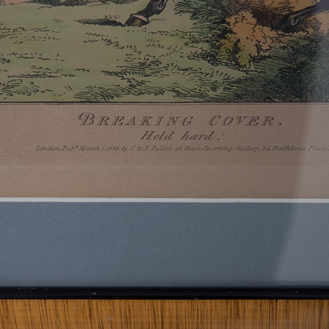 Blue 1825 English Hunting Prints by Henry Alken, London - Set of 6 For Sale - Image 8 of 12